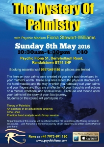 8th May Palmistry Randalstown 2016